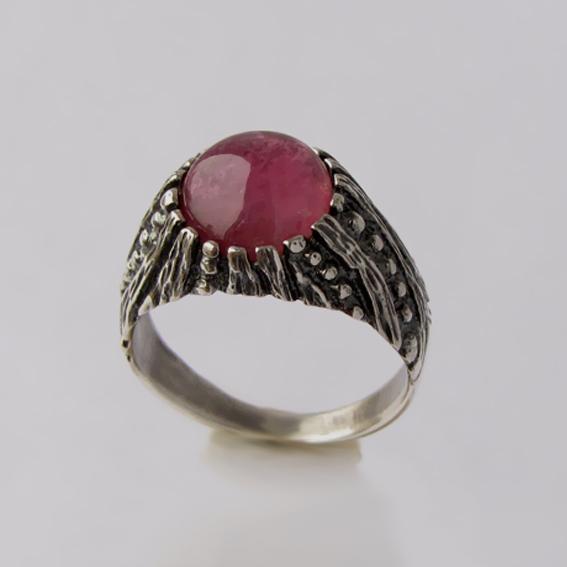 Кольцо с турмалином красным, арт.ПР3