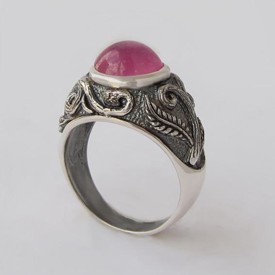 Кольцо с турмалином красным, арт. ШАХ3М