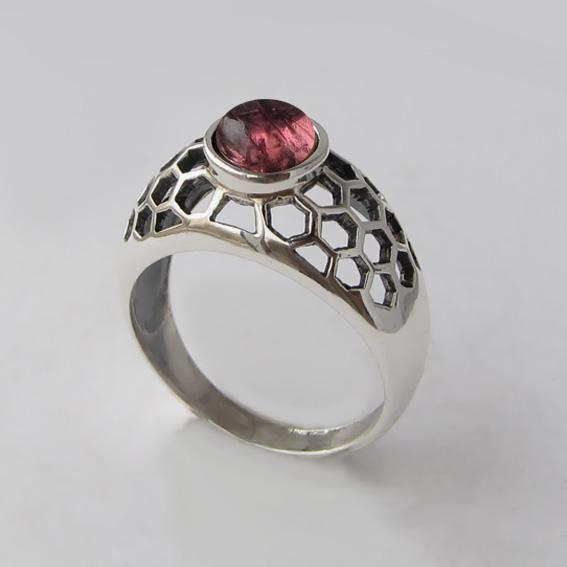Кольцо с турмалином розовым, арт. ПЧ3