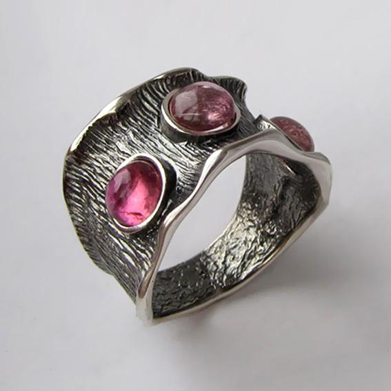 Кольцо с турмалином розовым, арт. ВОЛ36