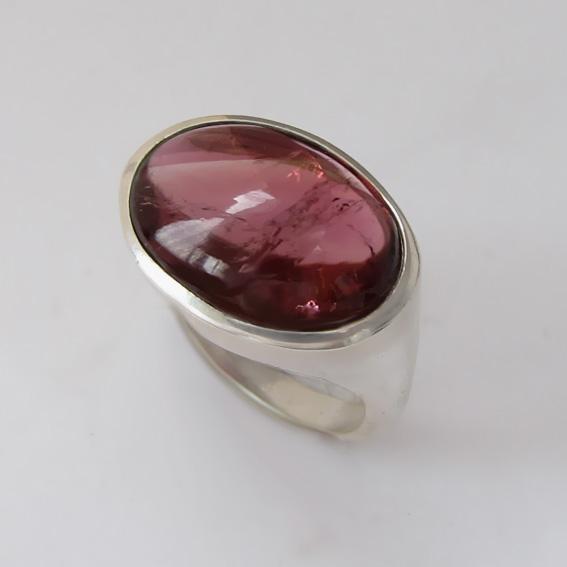 Кольцо с турмалином красным, арт.ВОВ312-2