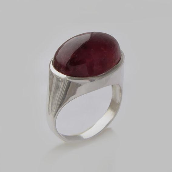 Кольцо с турмалином красным, арт.ВОВ312