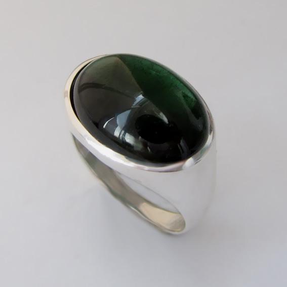 Кольцо с турмалином зеленым, арт. ВОВ313