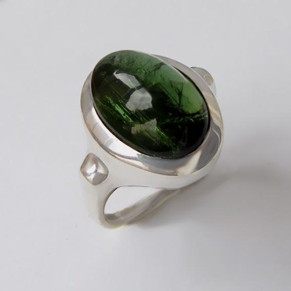 Кольцо с турмалином зеленым, арт. ЗЕ310