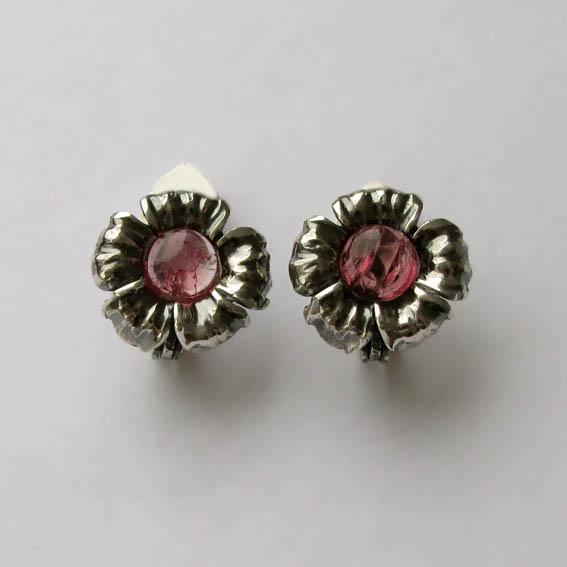 Серьги с турмалином розовым, арт. ЦВ46П