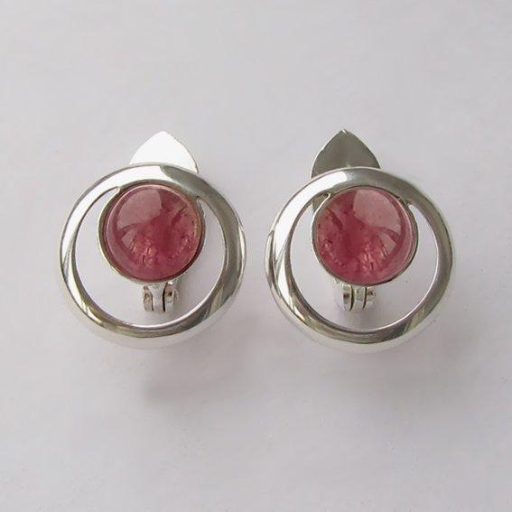 Серьги с турмалином розовым, арт. КК48П