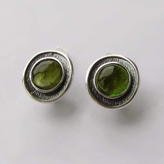 Серьги с турмалином зеленым, арт. МСБ4П