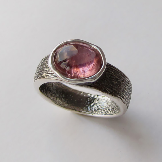 Кольцо с турмалином розовым, арт.ПФОВ37