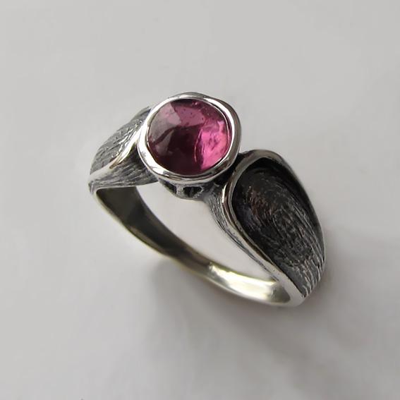 Кольцо с турмалином розовым, арт. ПФЧ36