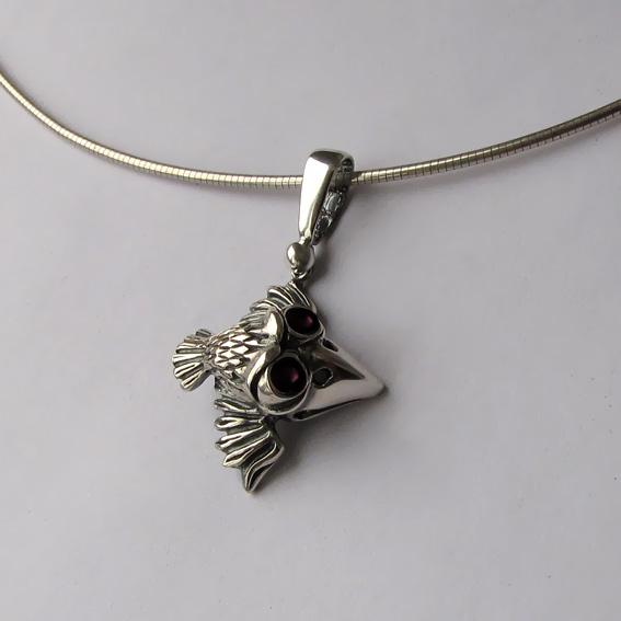 Кулон серебряный с турмалином, арт. ВО1