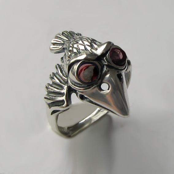 Серебряное кольцо с турмалином, арт. ВО3