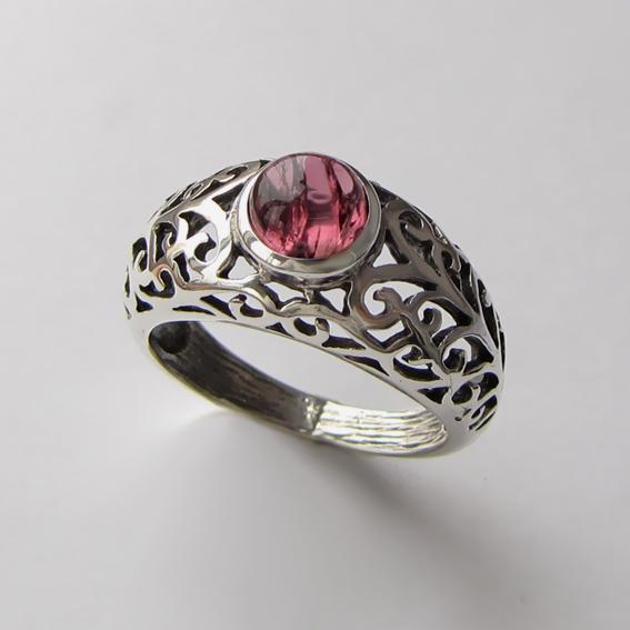 Кольцо с турмалином розовым, арт.ВОЗД36