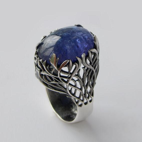 Кольцо с танзанитом, арт.ЛИ314