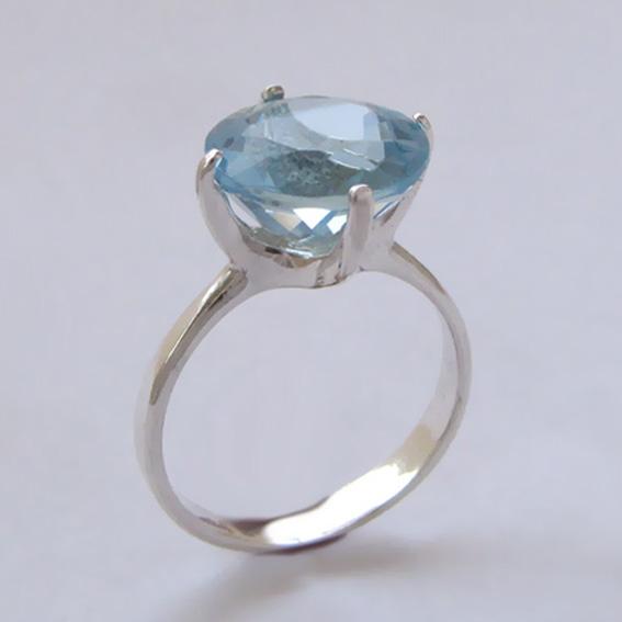 Кольцо с голубым топазом, арт. 4З312