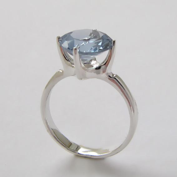Кольцо с голубым топазом, арт.43310