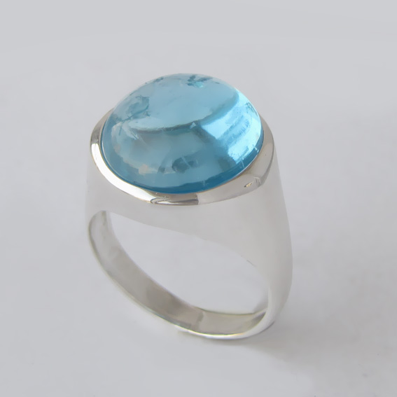 Кольцо с топазом, арт. НКН315