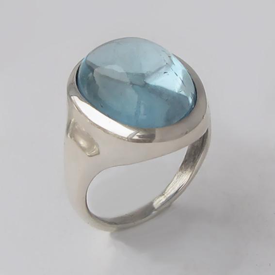 Кольцо из серебра с топазом, арт. ОВН315