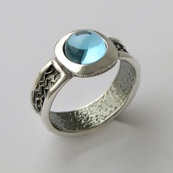 Кольцо с топазом, арт. ИЕ3