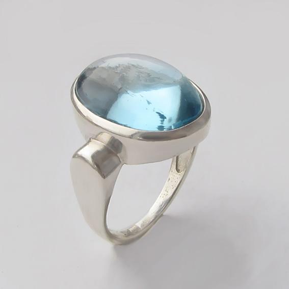 Кольцо из серебра с топазом, арт. ЗЕ313