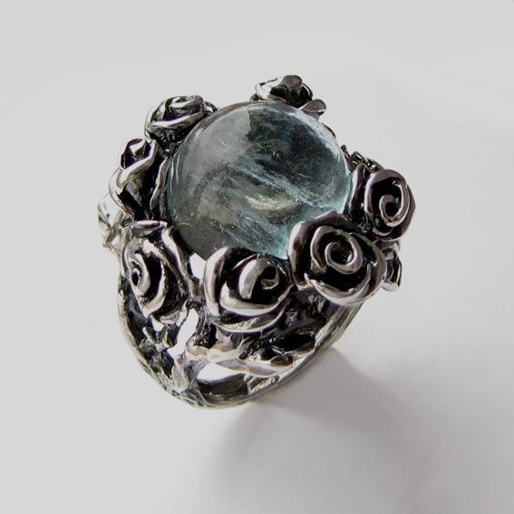 Кольцо с топазом, арт. РО3