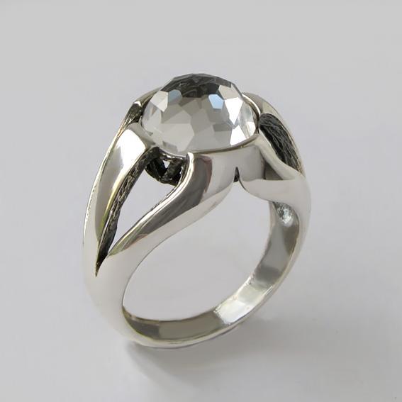 Кольцо с горным хрусталем, арт. 5Л3