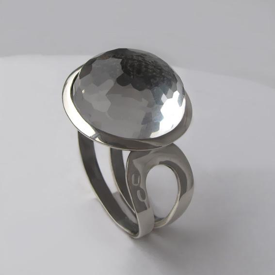 Кольцо с горным хрусталем, арт. БА3Н