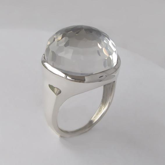 Кольцо с горным хрусталем, арт. НКН320