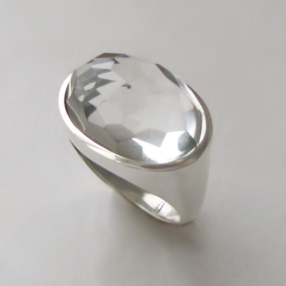 Кольцо с горным хрусталем, арт. ВОВ313