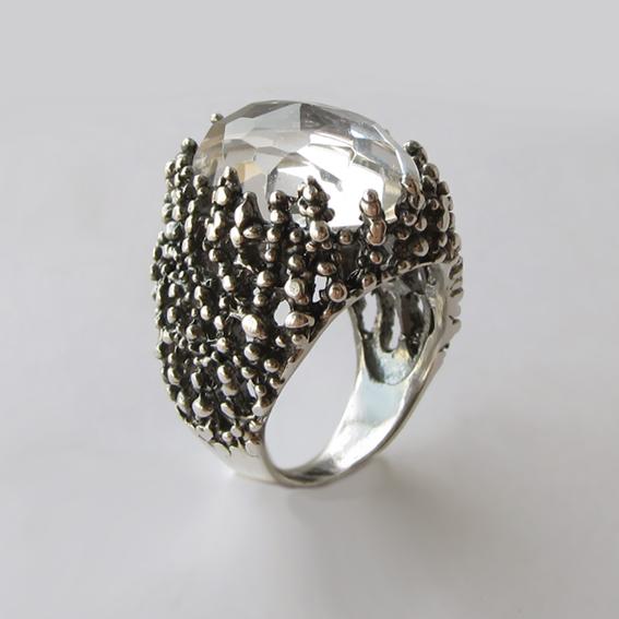 Кольцо с горным хрусталем, арт. ГАУ313