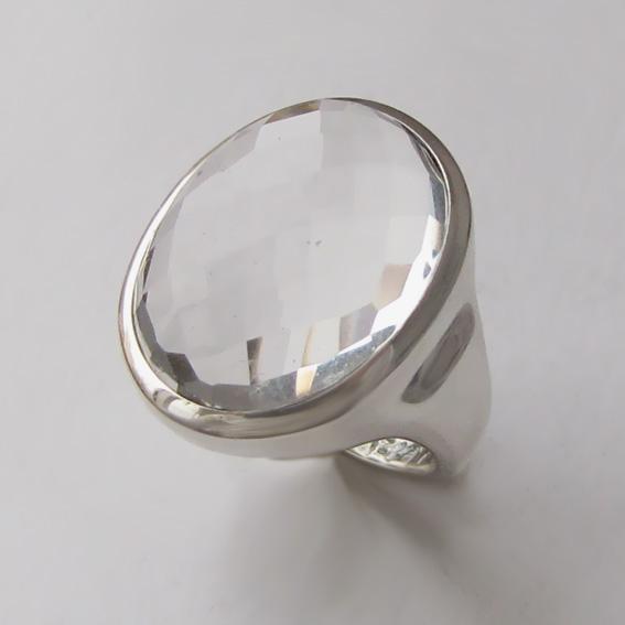Кольцо с горным хрусталем, арт.ОВН315