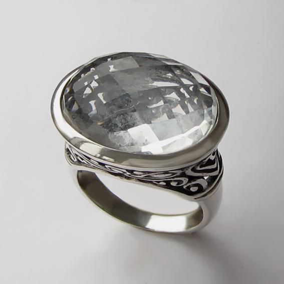Кольцо с горным хрусталем, арт. ОВВ3