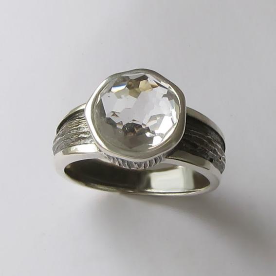 Кольцо с горным хрусталем, арт. ПФ39