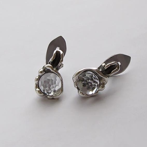 Серебряные серьги с горным хрусталем, арт. ВОД4П