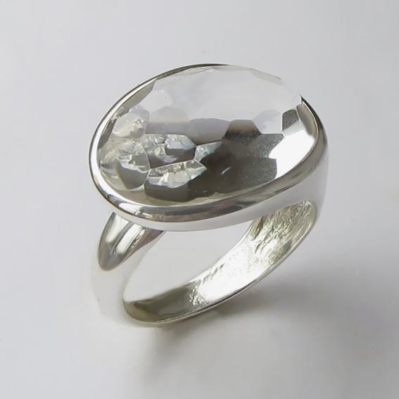 Кольцо с горным хрусталем, арт. ВОВБ313