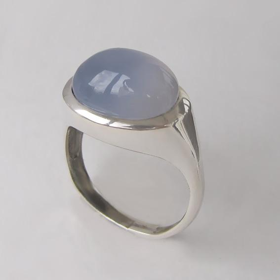 Кольцо с халцедоном КОВ312