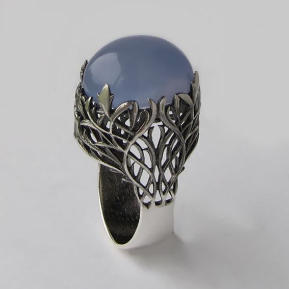 Кольцо с халцедоном, арт. ЛИ314