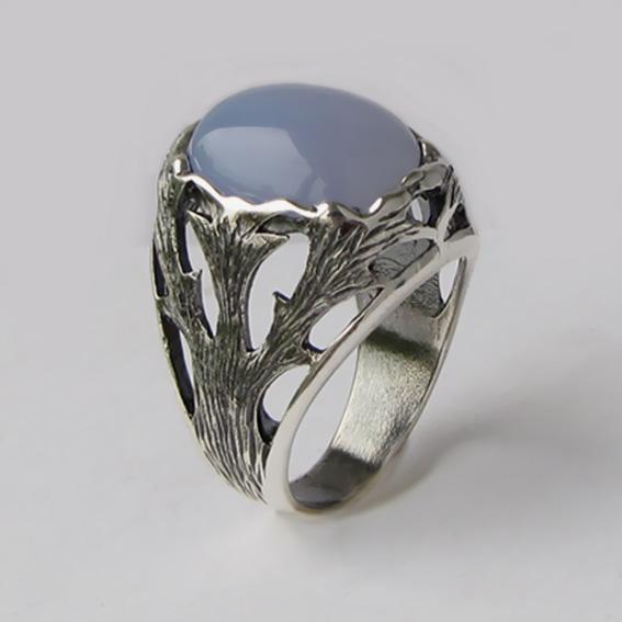 Кольцо с халцедоном, арт.ЛИН312