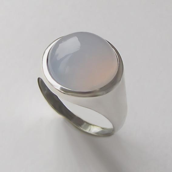 Кольцо с халцедоном, арт. НКН313