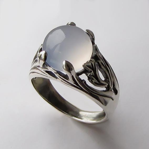 Кольцо с халцедоном, арт. ЛИА311
