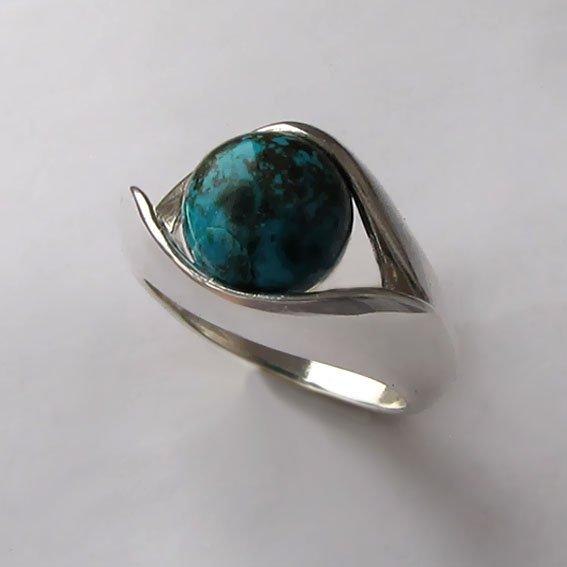 Кольцо с хризоколлом, арт. УЛ3