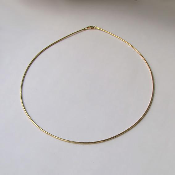 Струна серебряная позолоченная 42 см., толщина-1.2 мм.
