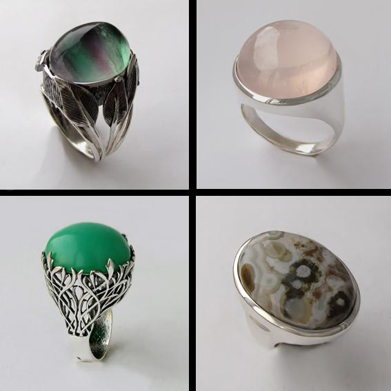 Кольца с крупными камнями