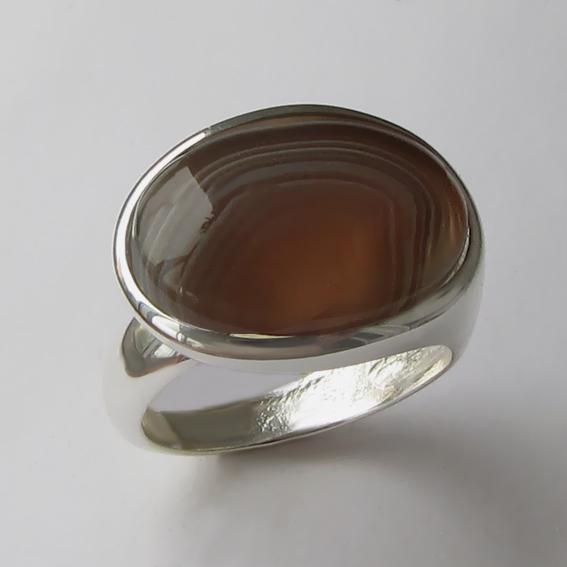Кольцо с ботсванским агатом, ВОВБ313