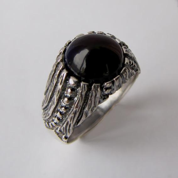 Серебряное кольцо с агатом, арт. ЭТ32
