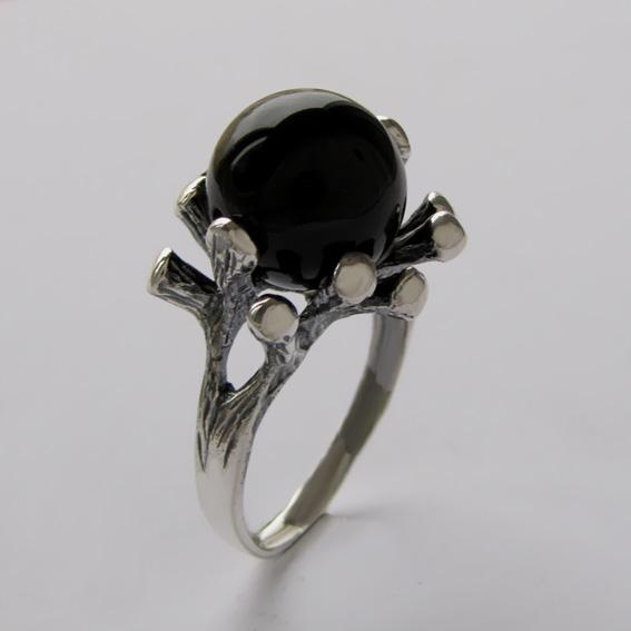 Серебряное кольцо с агатом, арт.Р3