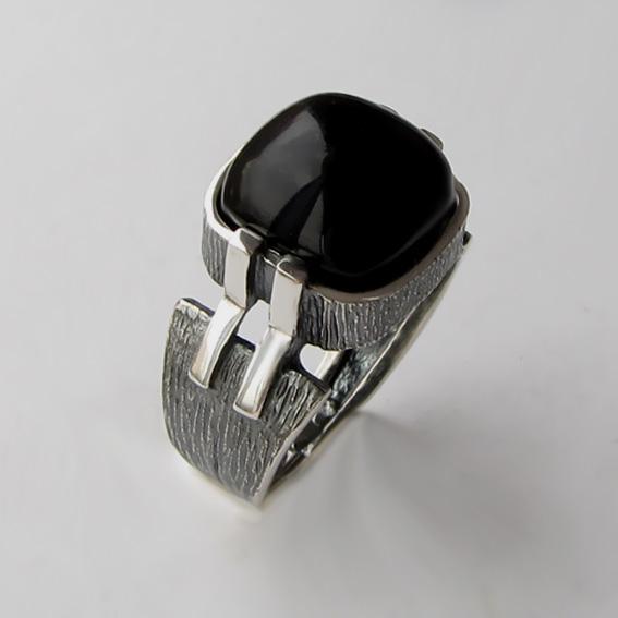 Кольцо с агатом, арт.МП3