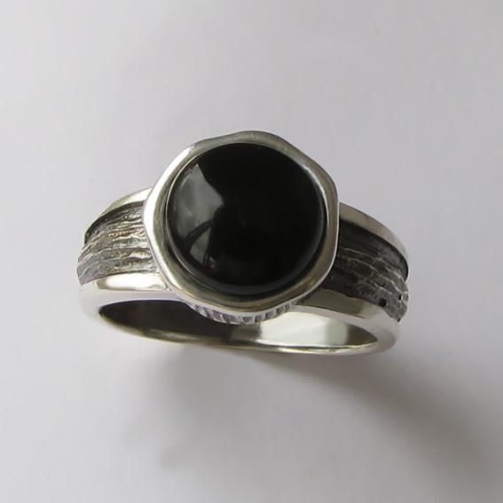 Кольцо с агатом, арт. ПФ39