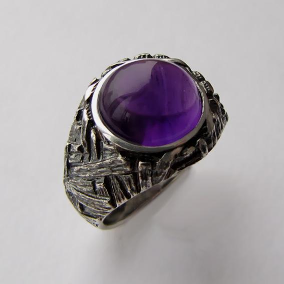Кольцо с аметистом, арт. ЭТ3