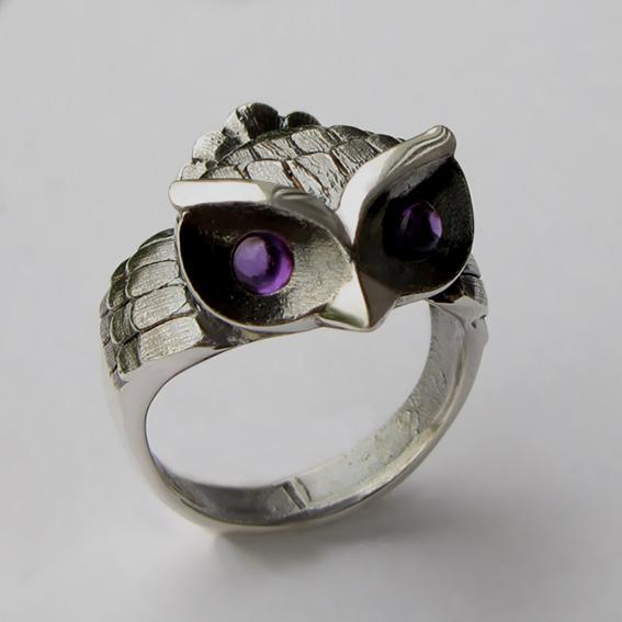 Кольцо с аметистом, арт. ФИЛ33