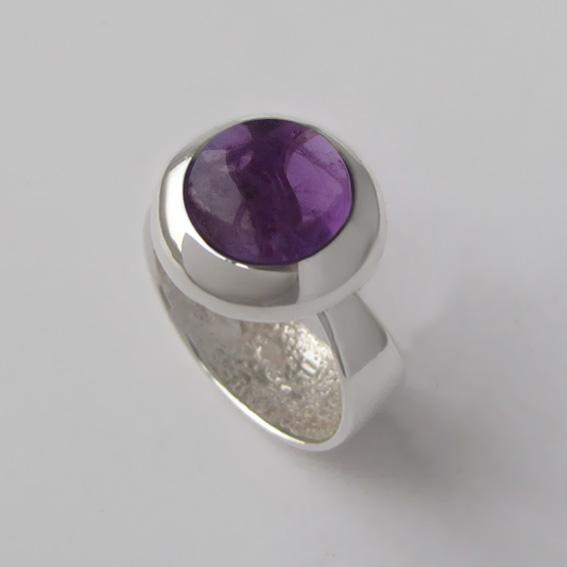Кольцо с аметистом, арт.Г310